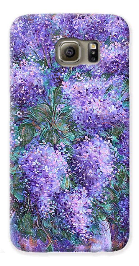 Flowers Galaxy S6 Case featuring the painting Scented Lilacs Bouquet by Natalie Holland