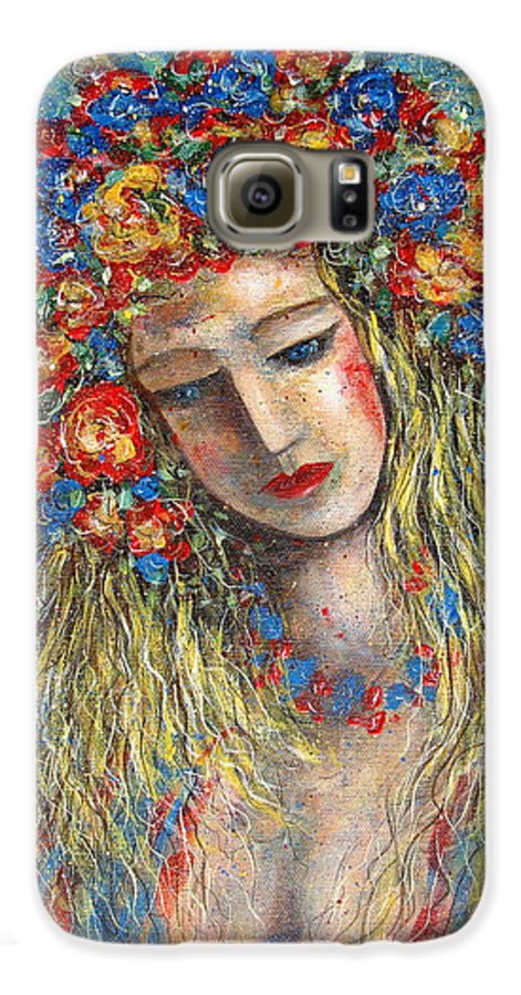 Painting Galaxy S6 Case featuring the painting The Loving Angel by Natalie Holland