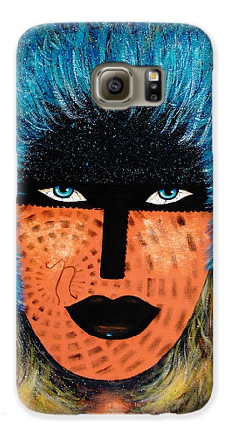 Woman Galaxy S6 Case featuring the painting Viva Niva by Natalie Holland