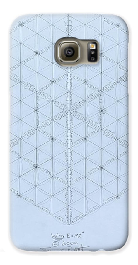 Energy Galaxy S6 Case featuring the drawing Why Energy Equals Mass Times The Speed Of Light Squared by Jason Padgett