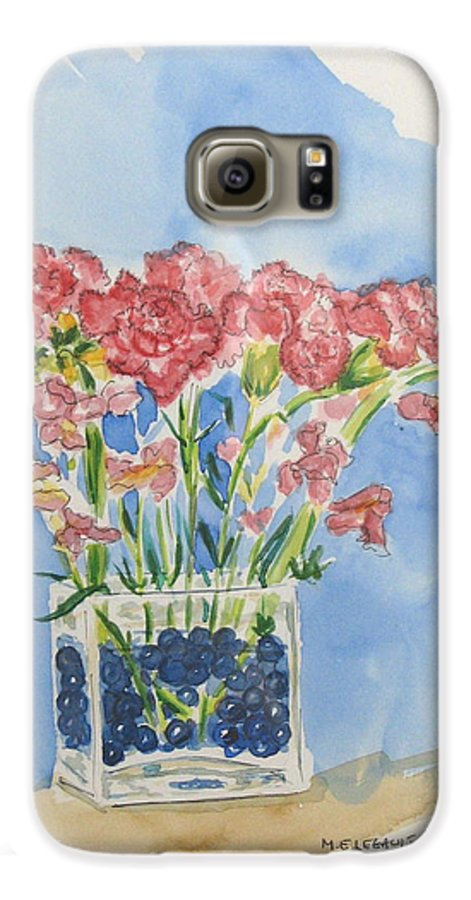 Flowers Galaxy S6 Case featuring the painting Flowers In A Vase by Mary Ellen Mueller Legault