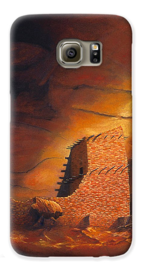 Mummy Cave Ruins Galaxy S6 Case featuring the painting Mummy Cave Ruins by Jerry McElroy
