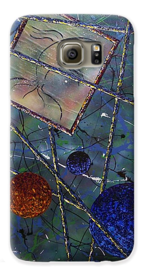 Fish Galaxy S6 Case featuring the painting Pisces by Micah Guenther