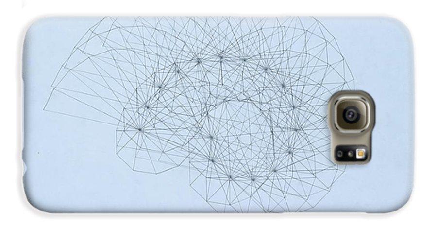 Jason Padgett Galaxy S6 Case featuring the drawing Quantum Nautilus by Jason Padgett