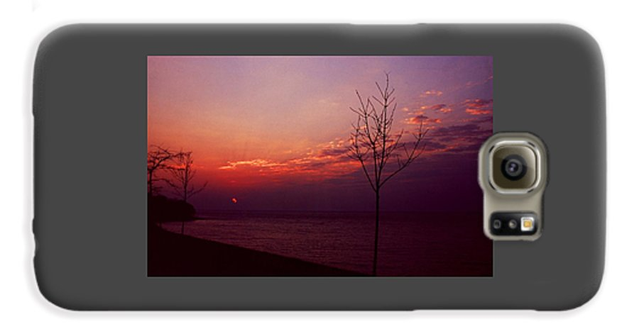 Sunset Galaxy S6 Case featuring the photograph 112601-20 by Mike Davis