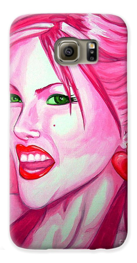 Anna Nicole Galaxy S6 Case featuring the painting Anna by Holly Picano