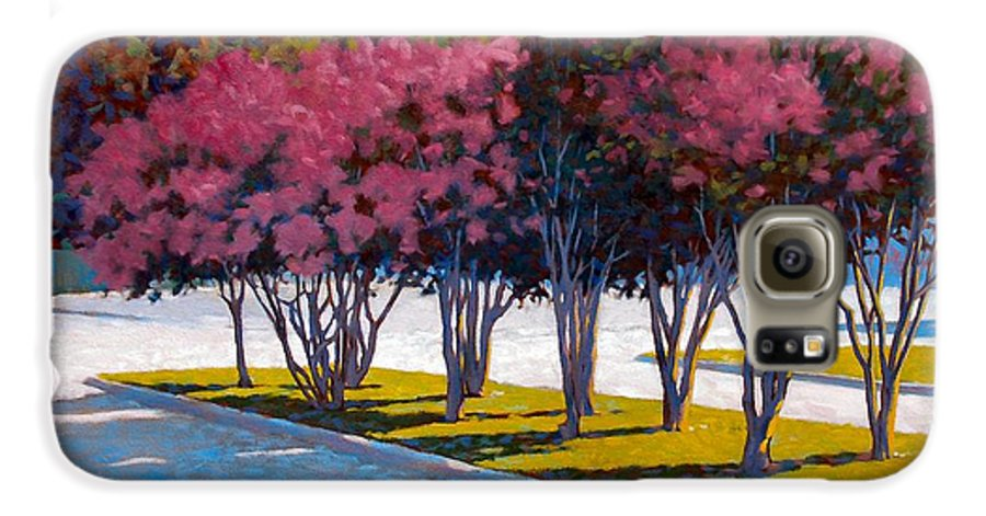 Crepe Myrtles Galaxy S6 Case featuring the painting Balanced Account by Kevin Lawrence Leveque
