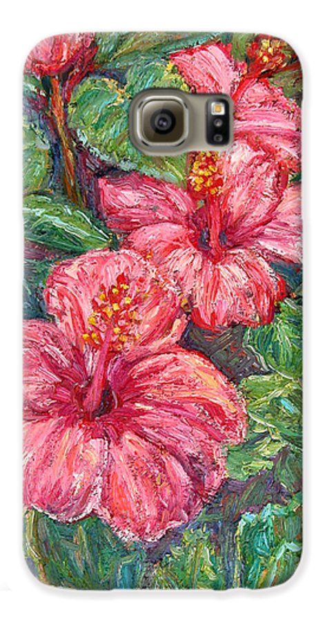 Hibiscus Galaxy S6 Case featuring the painting Hibiscus by Kendall Kessler