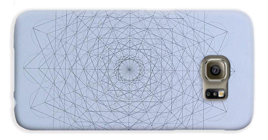 Jason Galaxy S6 Case featuring the drawing Quantum Foam by Jason Padgett