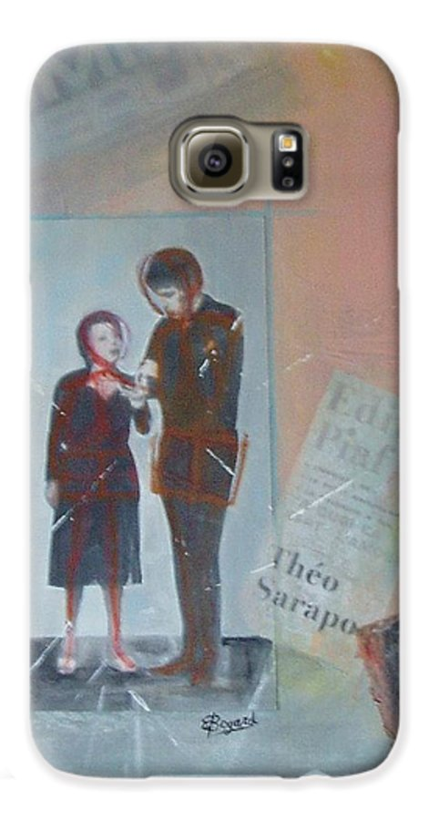 Edith Piaf Galaxy S6 Case featuring the mixed media A Cuoi Ca Sert L'mour Or What Else Is There But Love by Elizabeth Bogard