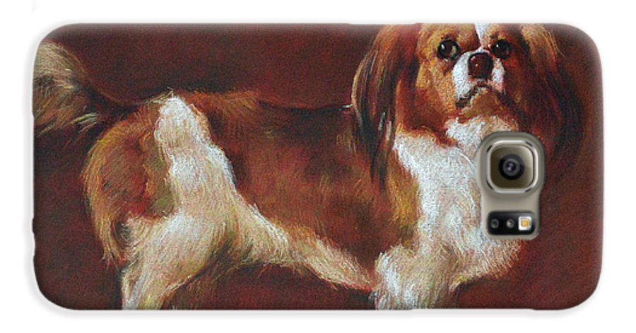 Pastel Galaxy S6 Case featuring the painting A King Charles Spaniel by Iliyan Bozhanov