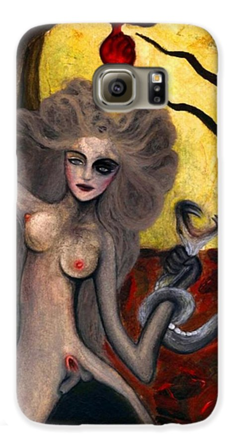 Aykaayka.com Galaxy S6 Case featuring the painting Adam And Eve by Ayka Yasis