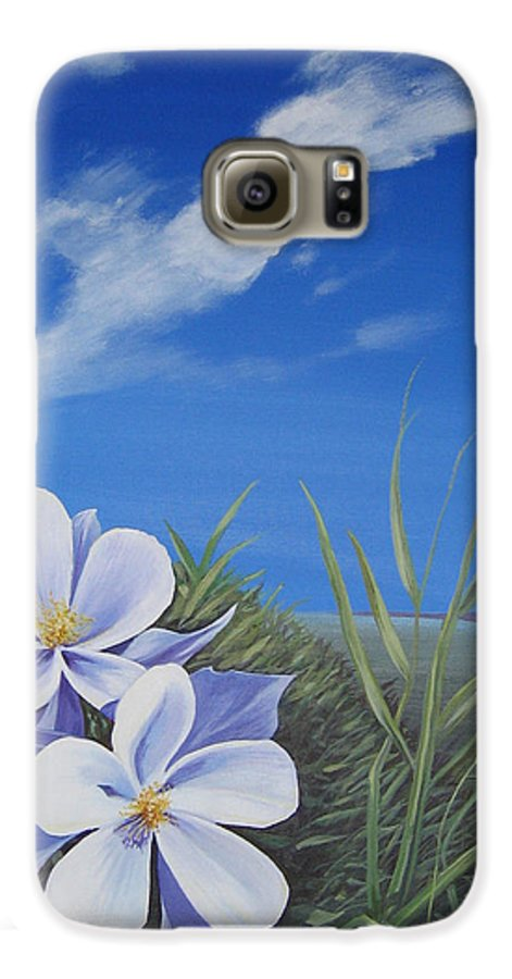 Landscape Galaxy S6 Case featuring the painting Afternoon High by Hunter Jay