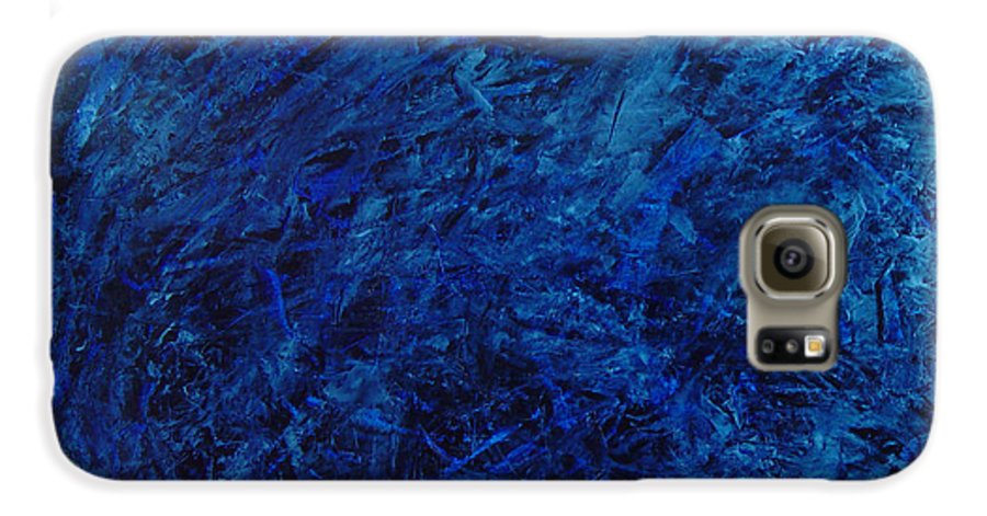 Abstract Galaxy S6 Case featuring the painting Alans Call by Dean Triolo