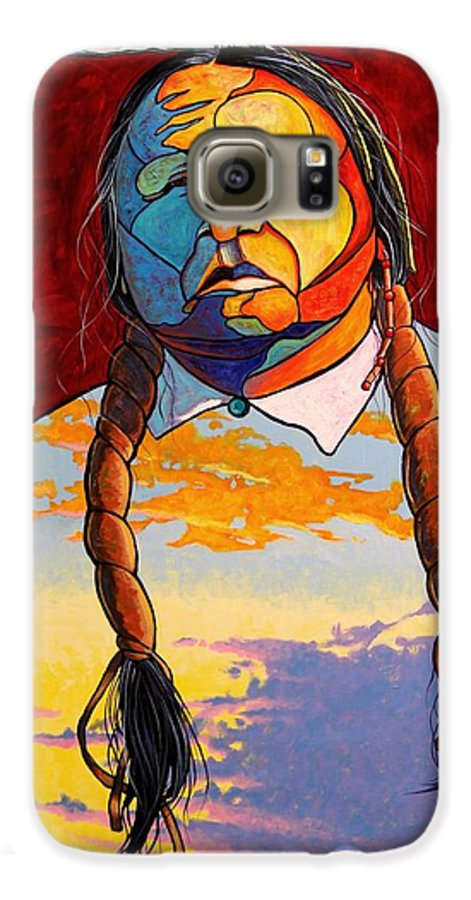 Spiritual Galaxy S6 Case featuring the painting All That I Am by Joe Triano