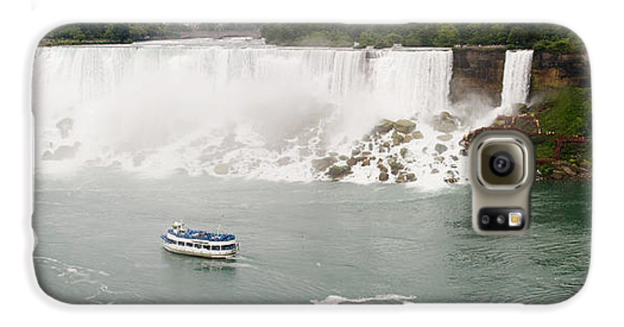 3scape Photos Galaxy S6 Case featuring the photograph American Falls by Adam Romanowicz