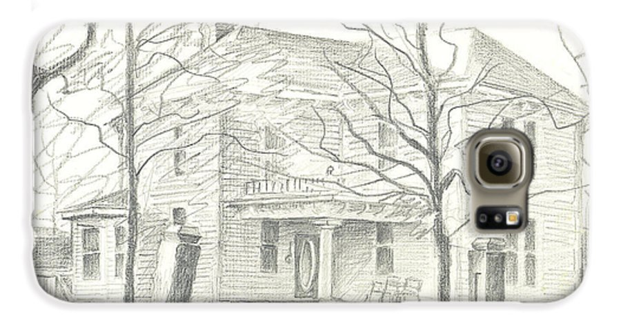 American Home Ii Galaxy S6 Case featuring the drawing American Home II by Kip DeVore
