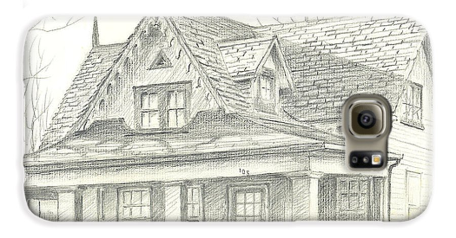 American Home Galaxy S6 Case featuring the drawing American Home by Kip DeVore