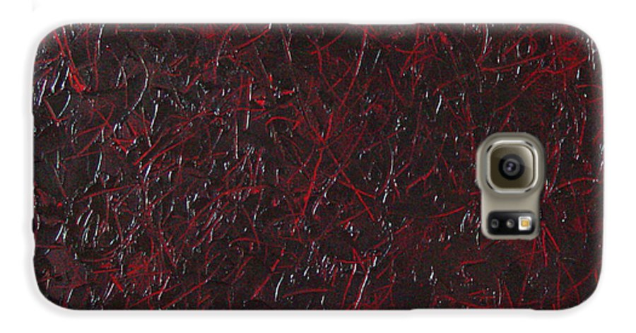 Abstract Galaxy S6 Case featuring the painting Another Shedding by Dean Triolo