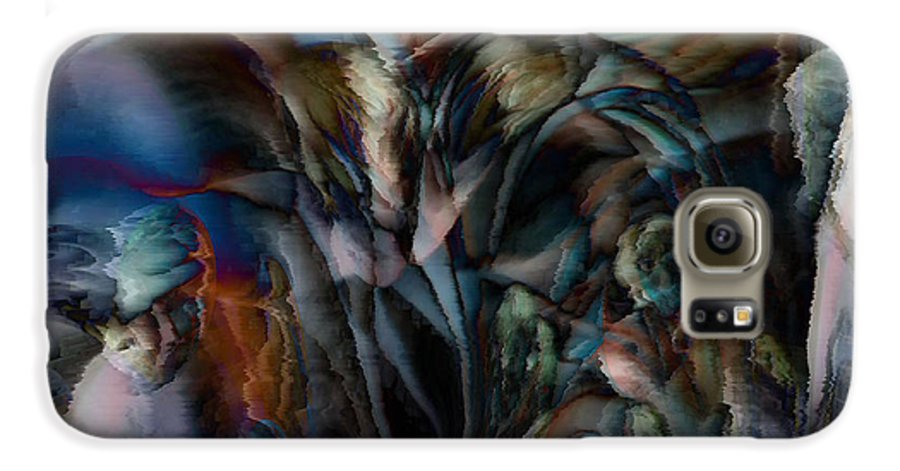 Another World Art Galaxy S6 Case featuring the digital art Another World by Linda Sannuti