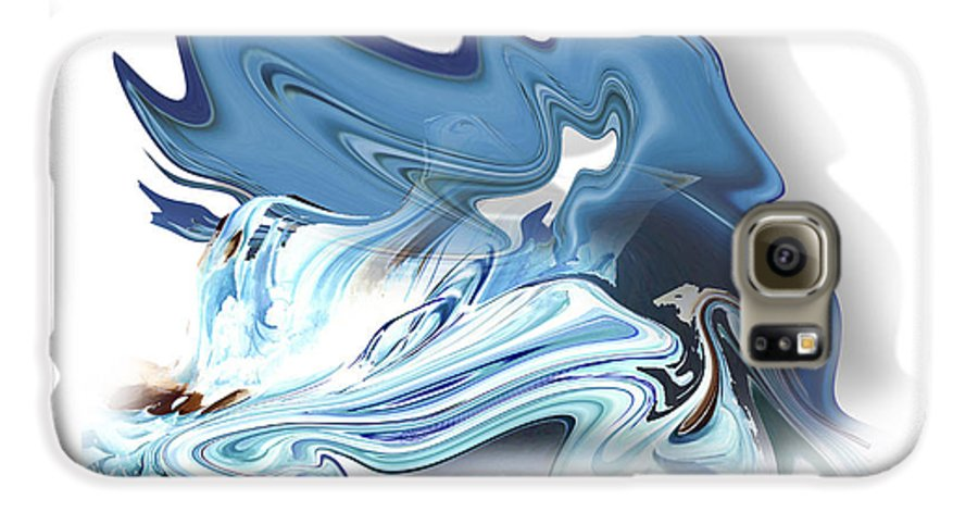 Astrology Galaxy S6 Case featuring the painting Aquarius by Christian Simonian