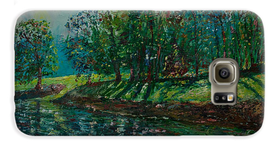 Oil Galaxy S6 Case featuring the painting At Carondelet Park by Horacio Prada