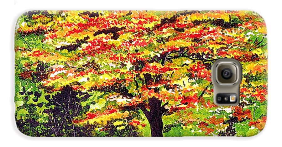Fine Art Galaxy S6 Case featuring the painting Autumn Splendor by Patricia Griffin Brett