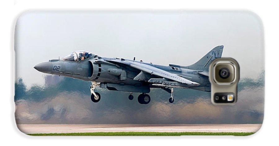 3scape Galaxy S6 Case featuring the photograph Av-8b Harrier by Adam Romanowicz