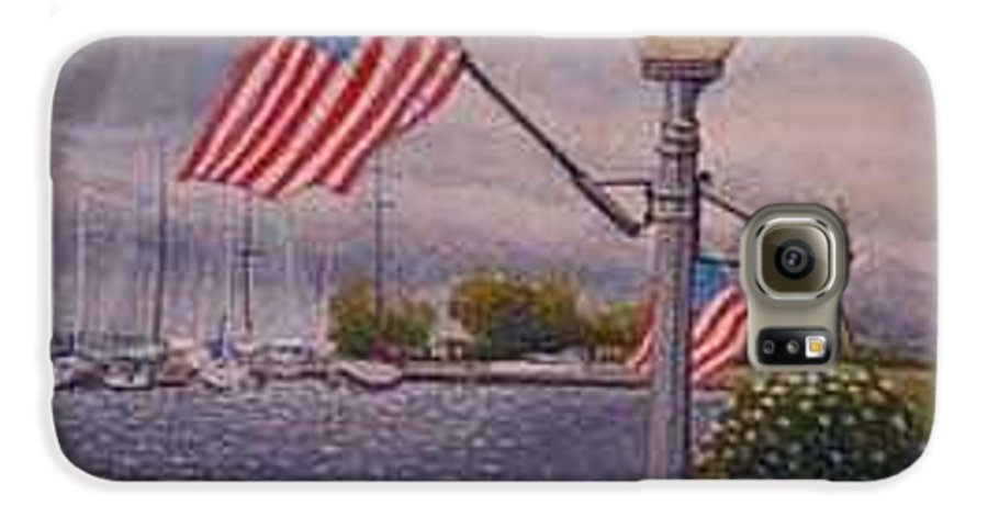Rick Huotari Galaxy S6 Case featuring the painting Bayfield On The 4th by Rick Huotari