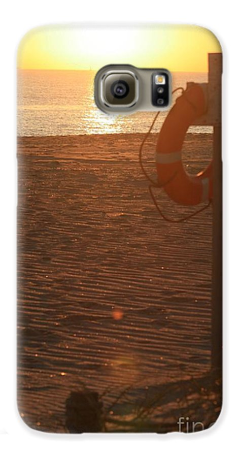 Beach Galaxy S6 Case featuring the photograph Beach At Sunset by Nadine Rippelmeyer