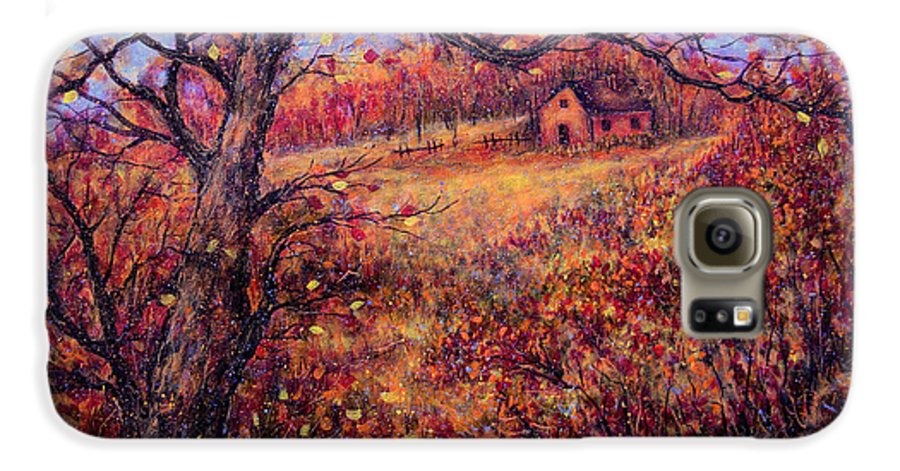 Autumn Galaxy S6 Case featuring the painting Beautiful Autumn by Natalie Holland