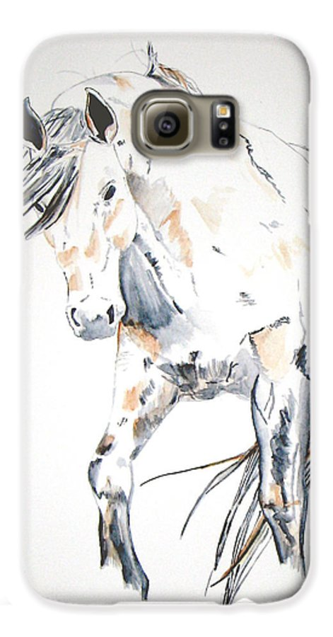 Horse Galaxy S6 Case featuring the painting Beauty by Crystal Hubbard