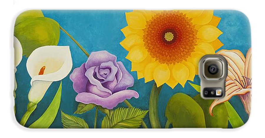 Art Galaxy S6 Case featuring the painting Best Friends by Carol Sabo