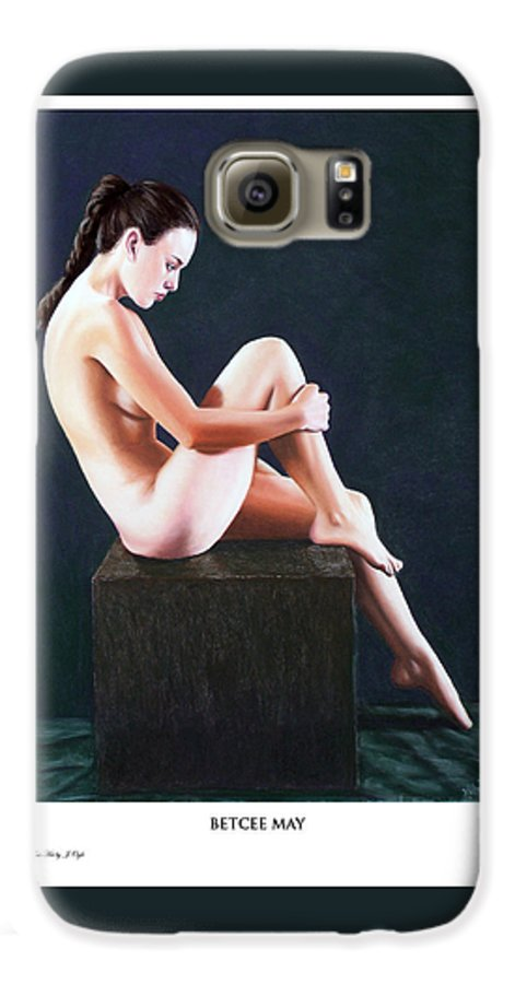 Joseph Ogle Galaxy S6 Case featuring the painting Betcee May Prints Only by Joseph Ogle