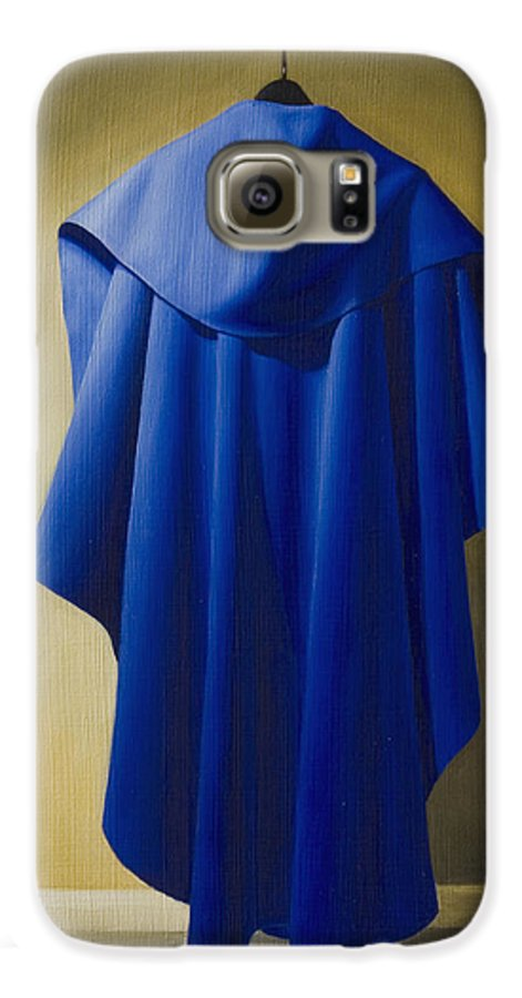 Realism Galaxy S6 Case featuring the painting Blue Cape by Gary Hernandez