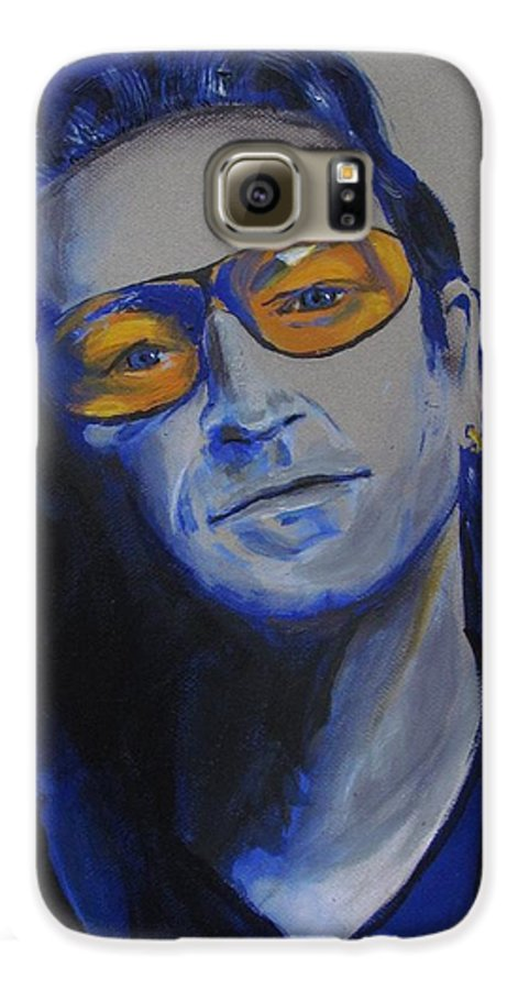 Celebrity Portraits Galaxy S6 Case featuring the painting Bono U2 by Eric Dee
