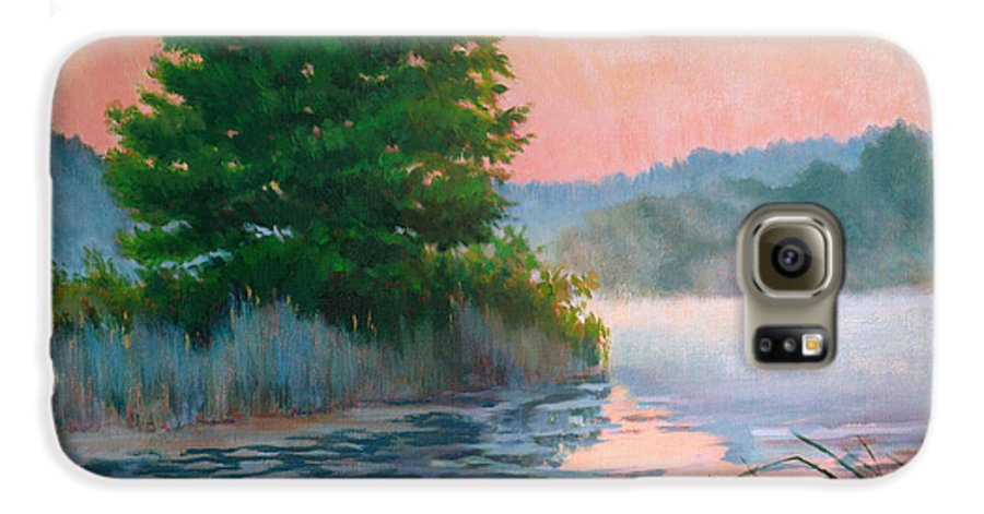 Impressionism Galaxy S6 Case featuring the painting Break Of Day by Keith Burgess
