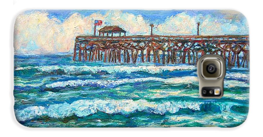 Shore Scenes Galaxy S6 Case featuring the painting Breakers At Pawleys Island by Kendall Kessler