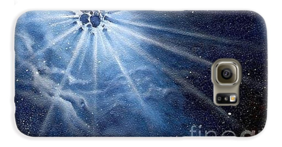 Outerspace Galaxy S6 Case featuring the painting Burst Of Light by Murphy Elliott