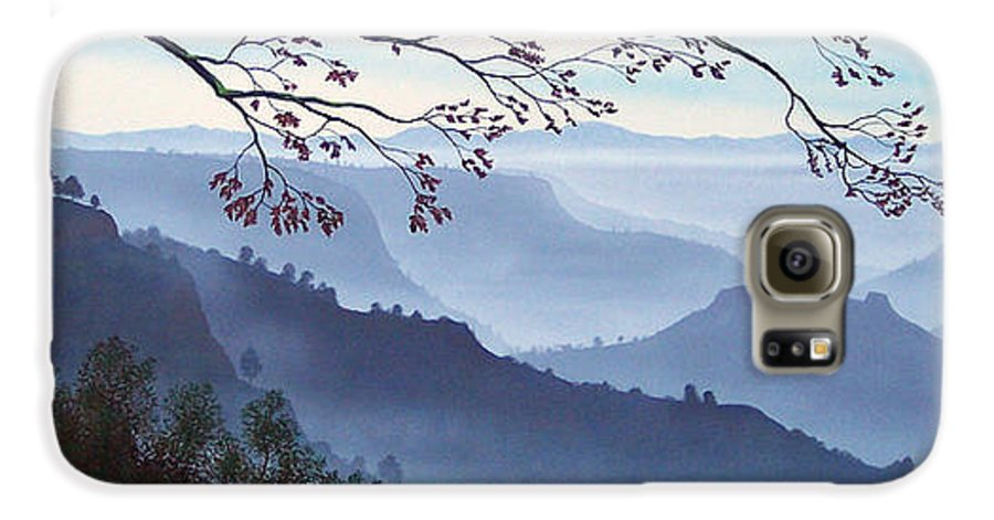 Mural Galaxy S6 Case featuring the painting Butte Creek Canyon Mural by Frank Wilson