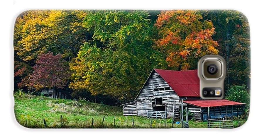 Appalachia Galaxy S6 Case featuring the photograph Candy Mountain by Debra and Dave Vanderlaan