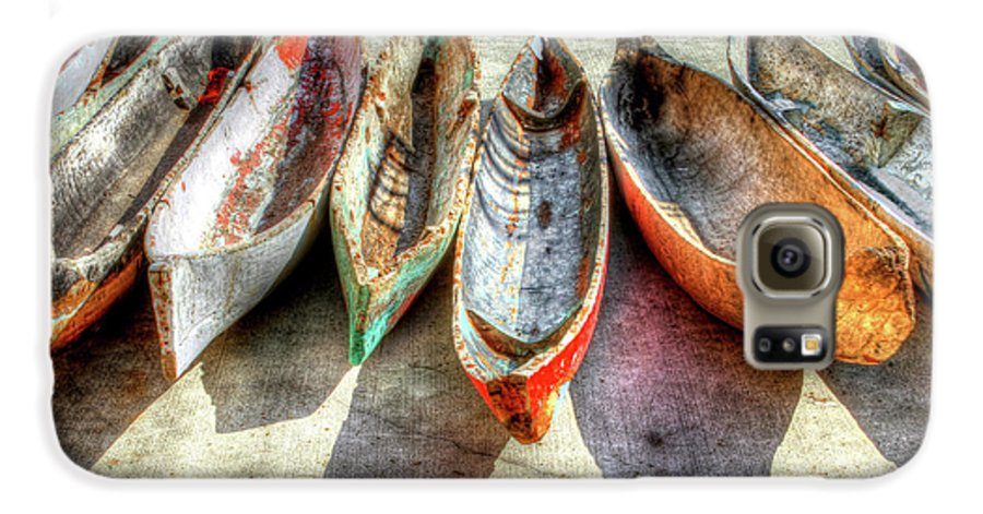 The Galaxy S6 Case featuring the photograph Canoes by Debra and Dave Vanderlaan