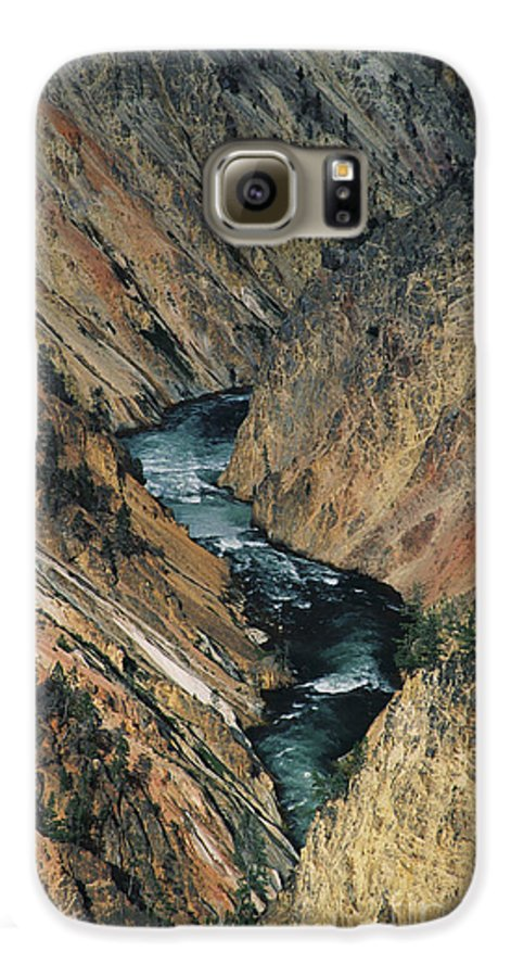 Yellowstone Galaxy S6 Case featuring the photograph Canyon Jewel by Kathy McClure