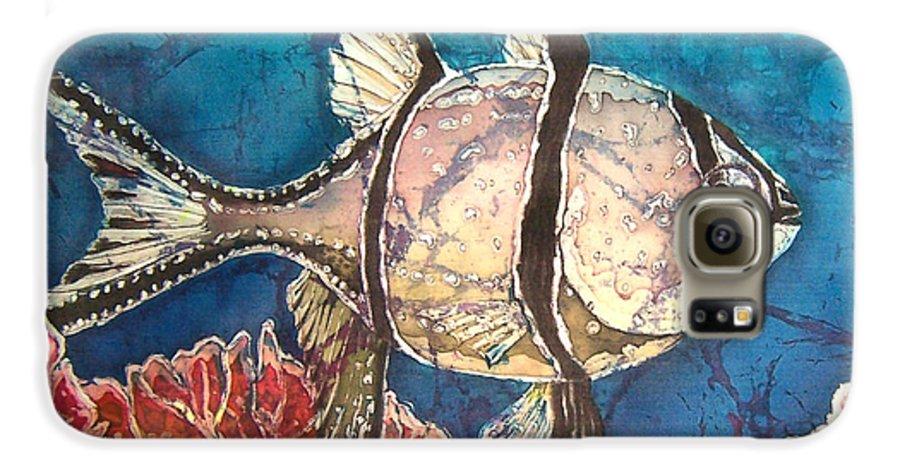 Cardinalfish Galaxy S6 Case featuring the painting Cardinalfish by Sue Duda