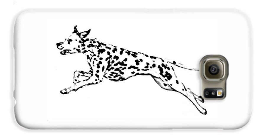 Dogs Galaxy S6 Case featuring the drawing Celebrate by Jacki McGovern