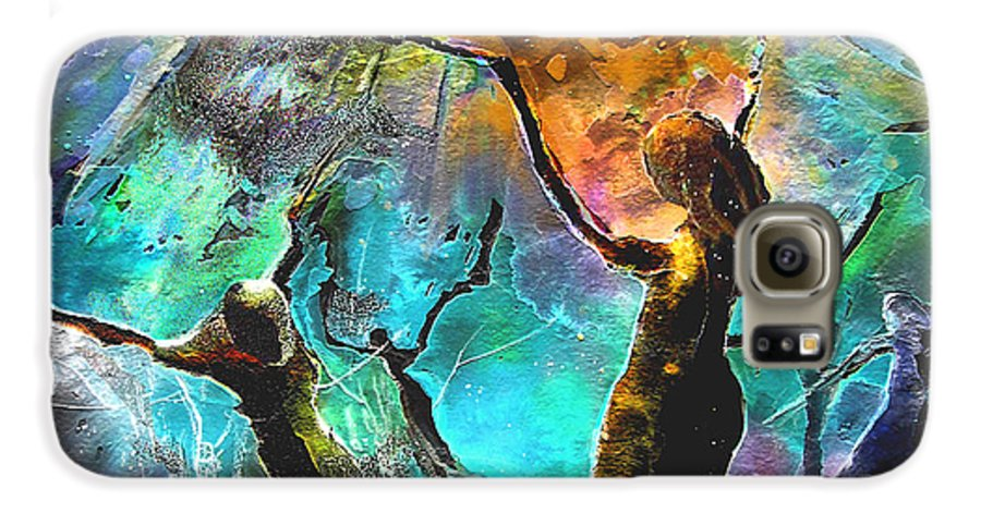 Miki Galaxy S6 Case featuring the painting Celebration Of Life by Miki De Goodaboom
