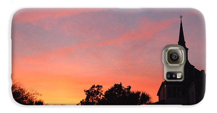 Charleston Galaxy S6 Case featuring the photograph Charleston At Dusk by Suzanne Gaff
