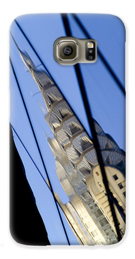 Chrysler Galaxy S6 Case featuring the photograph Chrysler Building by Tony Cordoza