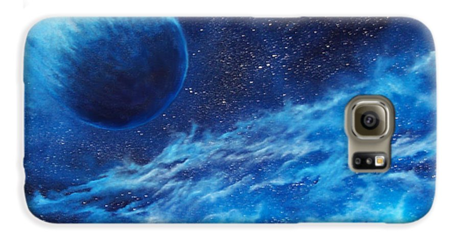 Astro Galaxy S6 Case featuring the painting Comet Experience by Murphy Elliott