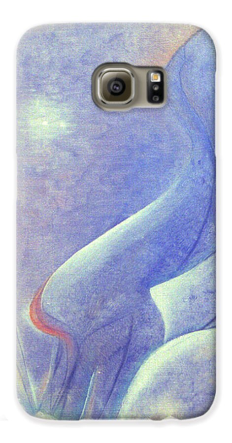 Blue Galaxy S6 Case featuring the painting Comfort by Christina Rahm Galanis